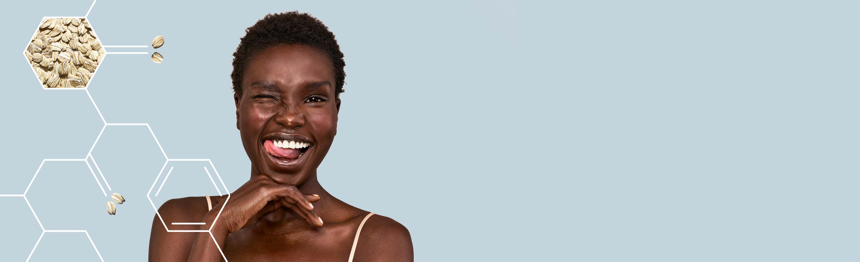 happy woman experiencing skin relief from aveeno products