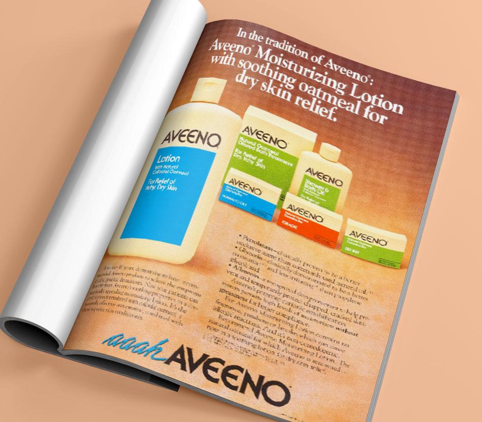 Magazine about Aveeno history